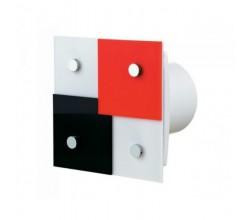 Dekoratívne ventilátory typ VENTS 100 DOMINO 1T+časový dobeh vhodná na montáž do stropu