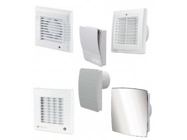 Domové ventilátory s automatickou žaluziou