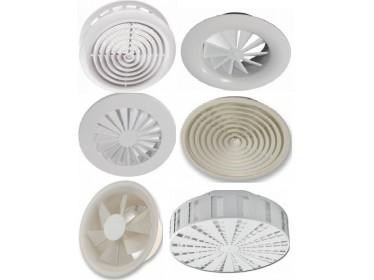 Anemostaty okrúhle plastové a kovové