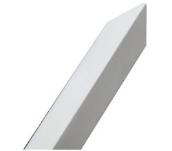 Ochranná rohová lišta hliník-farba Biela výška1m/45mm/45mm