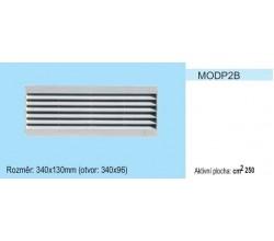 Vetracia mriežka bez sieťky MODP2 stredná časť 340x130 pre otvor 340x96mm