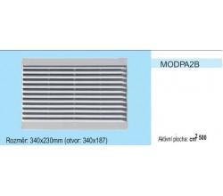 Vetracia mriežka bez sieťky MODPA2 stredná časť 340x230 pre otvor 340x187mm