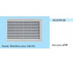 Vetracia mriežka bez sieťky MODPA3 pravá strana 360x230 pre otvor 338x187mm