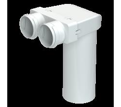 Blauberg RPZ 125 / 75x2 / DN75-Okrúhly adaptér pre montáž na strop alebo na stenu.