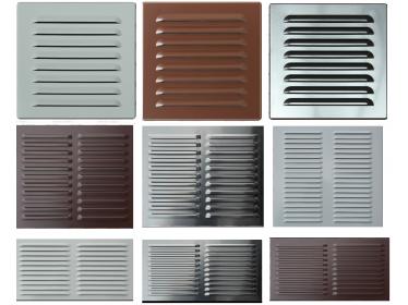 Hliníkové vetracie mriežky typ OPZ farba natur/bezfarebná/ a biela