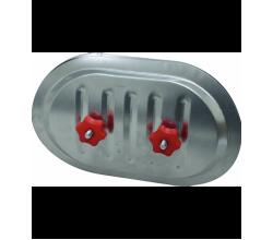 Revízne dvierka do spiro potrubia RPDR-A10- 100/125mm-rozmery dvierok-180x80mm