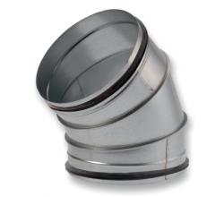 BDSG45 - 45° -Plátkované koleno s gumeným tesnením - 150mm