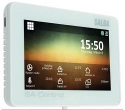 HRS SA-CONTROL • Diaľkový ovládač s dotykovou obrazovkou prerekuperátory SALDA jednotky HRS