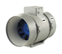 Poloradiálne odsávacie ventilátory Blauberg Turbo 200 priemer 200mm-dvojrýchlostný výkon:805-1080m3/h napätie 230V