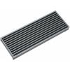 Podlahové vetracie mriežky hliníkové s pevnými lamelami pod uhlom 0 stupňov - ALG-F-0-Farba: NATURE