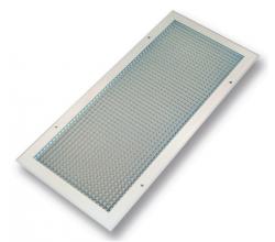 ECG 100x100 - Vetracia mriežka štvorcová z hliníka s pevnými lamelami - Farba: Biela