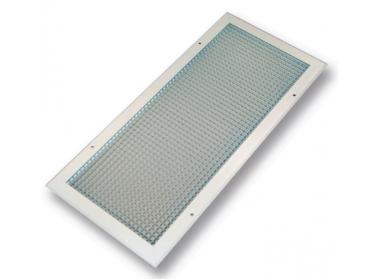 Vetracie mriežky štvorcové z hliníka s pevnými lamelami ECG - Farba: Biela