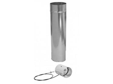 Rozvody vzduchu pozink potrubie hladké+klapky