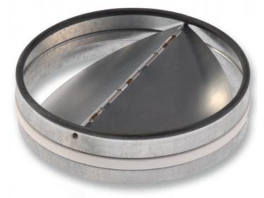Spätné klapky kovové - do kruhového potrubia