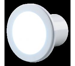 Ventilátor Vents Lumis 100 s 10W LED svetlom - zapínanie a vypínanie vypínačom na svetlo pre montáž na strop.