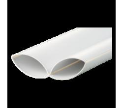 F1005 Plastové potrubie okrúhle - skladateľné Ø100mm dĺžka 50cm