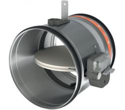 CR60+MFUS - Ø100mm - Protipožiarna spätná klapka medzi kruhové potrubia - 90 minút - 72°C tepelnou poistkou