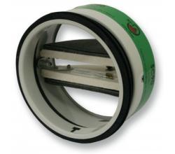 SC90 - Ø80mm - Protipožiarna spätná klapka do kruhového potrubia - 90 stupňov - 70°C tepelnou poistkou