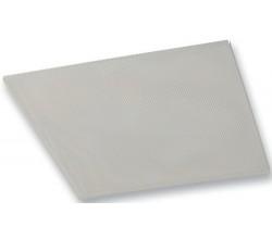 PS-PP 595 X 595mm - Perforovaný stropný anemostat kovový biely