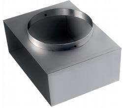REW 200 X 100 - 1 X DIA 125mm - Pripojovacia krinka pre nástenné a podlahové mriežky