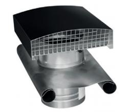 CT - Strešný prechod kovový - 125mm - Čierna - Golier olovený