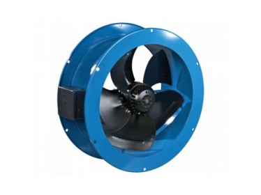 Potrubné priemyselné axiálne ventilátory s prírubou