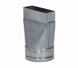 Redukcia symetrická kanál 200x90mm - flex 150mm