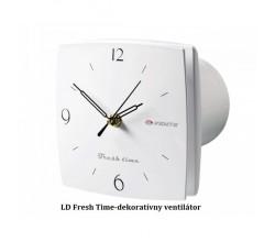 Ventilátor VENTS 100LD fresh time-zapínanie a vypínanie vypínačom na svetlo-funkčné hodiny