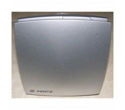 Ventilátor Vents 150LD Alumat+predná mriežka hliníkovej farby-zapínanie a vypínanie vypínačom na svetlo