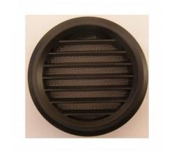 Mriežka plastová MV50/2BVS čierna-so sieťkou proti hmyzu 2kusy v balení